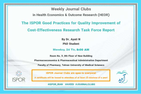 The ISPOR Good Practices For Quality Improvement of Cost Effectiveness Research Task Force Report