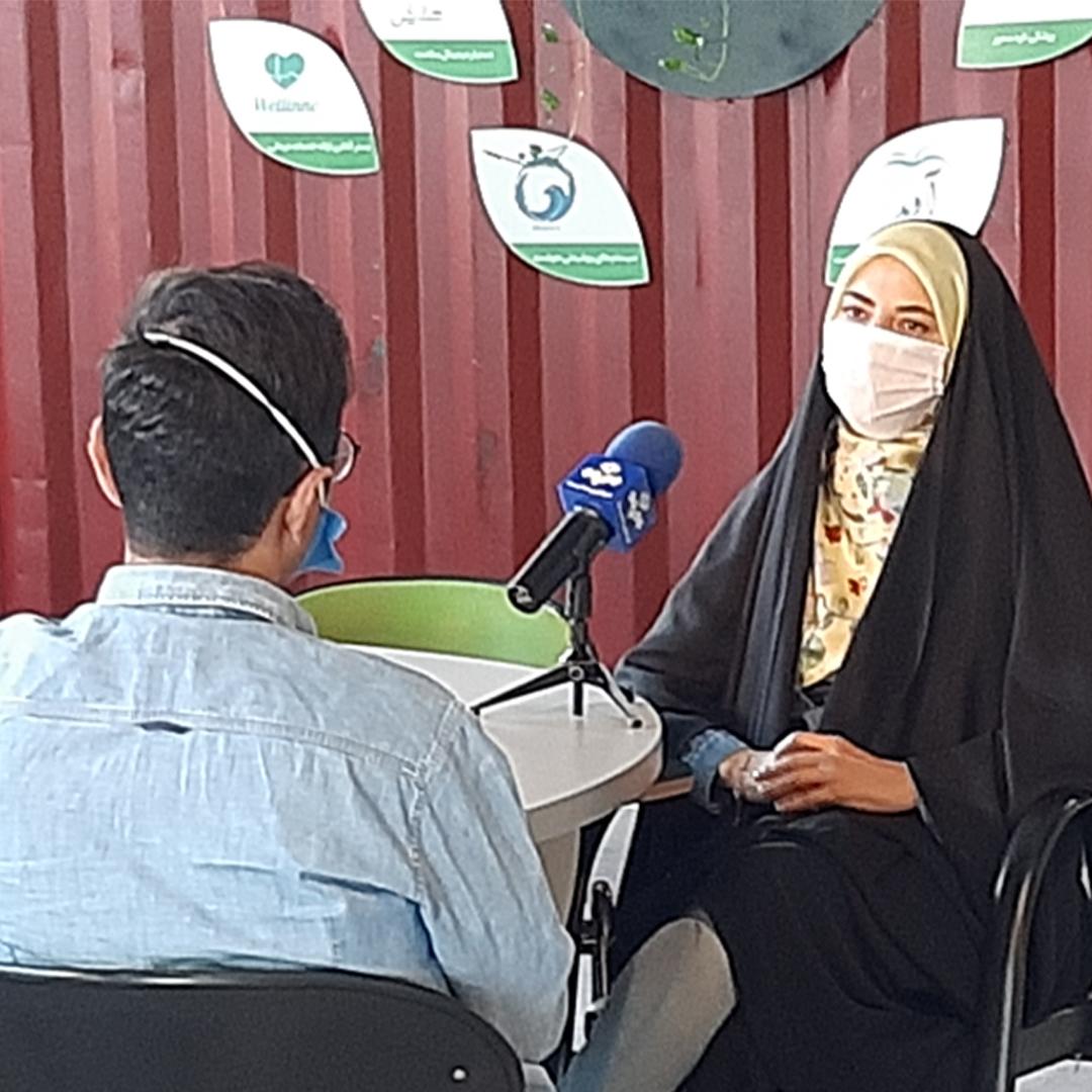 مصاحبه خبری شبکه یک سیما با گروه آوید